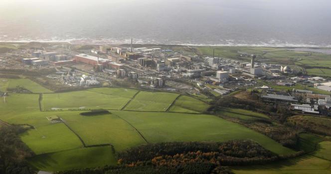 Vue aérienne de la centrale nucléaire de Sellafield , en novembre2009.