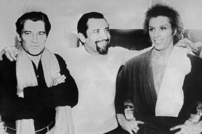 Jean Babilée (à gauche), avec Jorge Donn et Maurice Bejart en 1979.