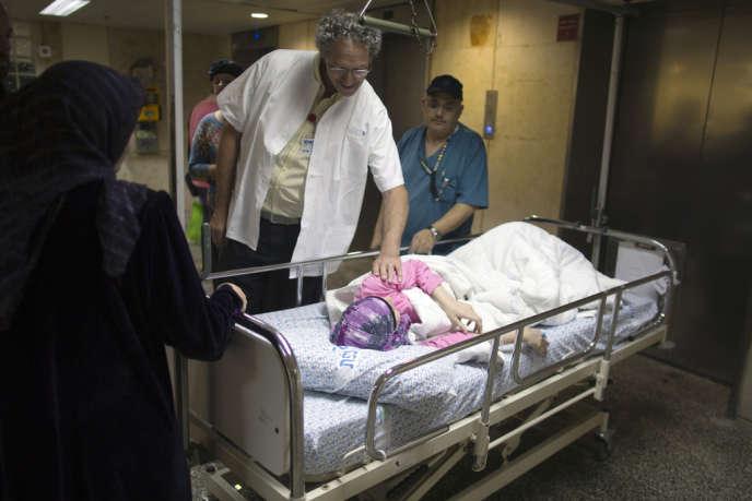 Hôpital Ziv, à Safed, août 2013. Le centre médical a déjà accueilli plus de deux cents blessés syriens.