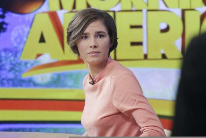 Amanda Knox sur la chaîne de télévision ABC, le 31 janvier.