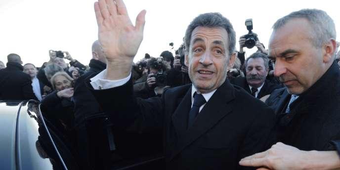 Nicolas Sarkozy à Chatelaillon-Plage, le 30 janvier.