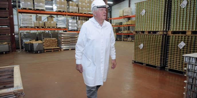Laurent Spanghero, dans son usine rebaptisée La Lauragaise à Castelnaudary (Aude).