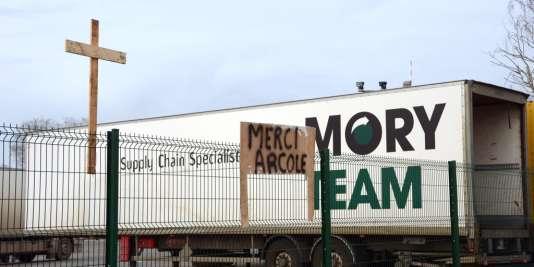 Le transporteur Mory Ducros, déclaré en faillite fin 2013.