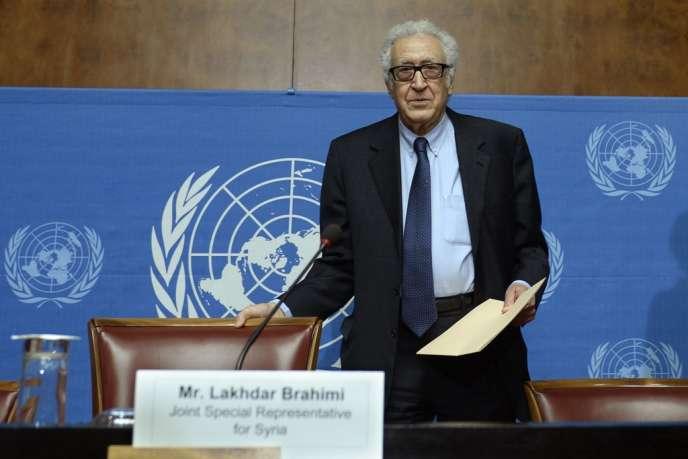 L'envoyé spécial de l'ONU sur la Syrie, Lakhdar Brahimi, le 31 janvier à Genève.