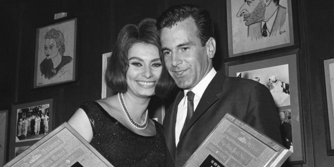 Maximilian Schell avec Sophia Loren en 1962.