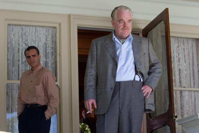Joaquin Phoenix et Phillip Seymour Hoffman dans le film