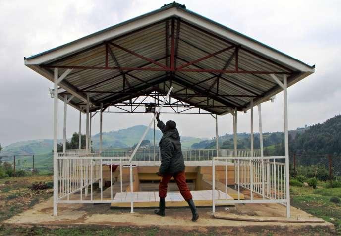 Mémorial aux victimes du massacre de Kesho (ouest du Rwanda), où périrent environ 1 400 Tutsi le 8 avril 1994, dans le fief de Pascal Simbikangwa.