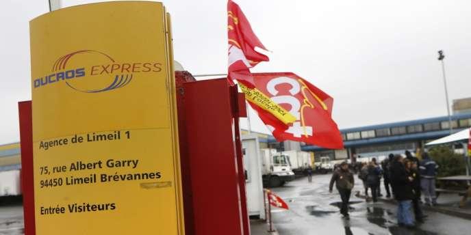 L'accueil de l'entreprise Mory Ducros, le 29 janvier à Limeil-Brevannes.