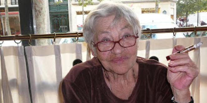 Violette Jacquet-Silberstein en novembre 2011.