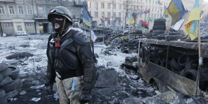 Un combattant de Maïdan à Kiev, le 2 février.
