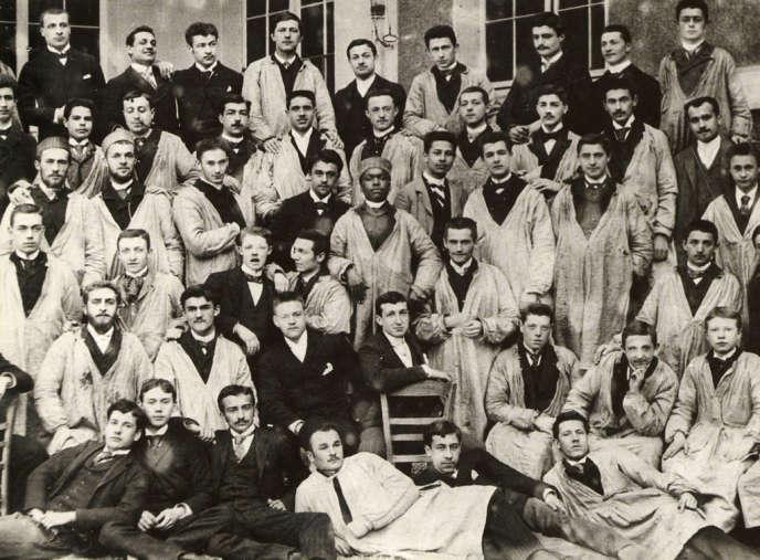 Une promotion d'HEC, à la fin du XIXe siècle.