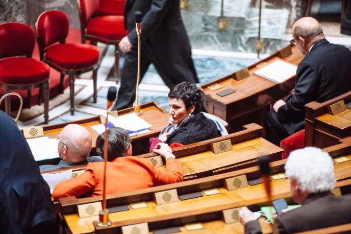 Dominique Bertinotti lors des questions au gouvernement à l'Assemblée nationale le 4 février.