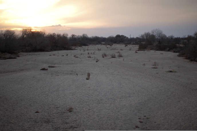 Le fleuve Kern à sec, en Californie, le 4 février.