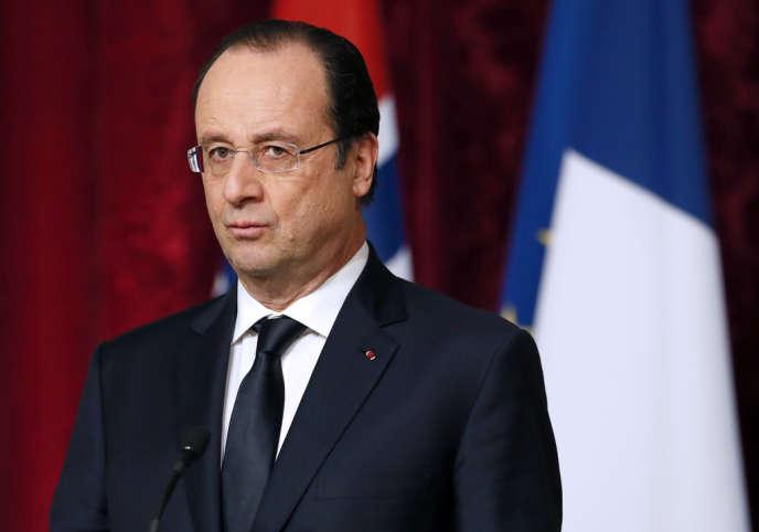 François Hollande à l'Elysée, le 3 février.