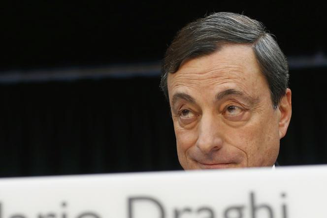 Mario Draghi, président de la BCE, le 9 janvier, à Francfort, siège de l'institution.