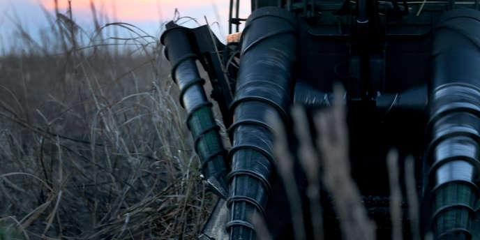 Machine pour récolter la canne à sucre, à Clewiston, en Floride.