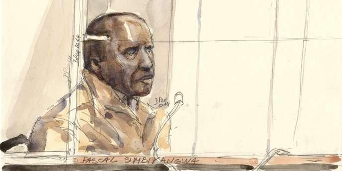 Pascal Simbikangwa, le 4 février 2014 lors de l'ouverture de son procès à la cour d'assises de Paris.