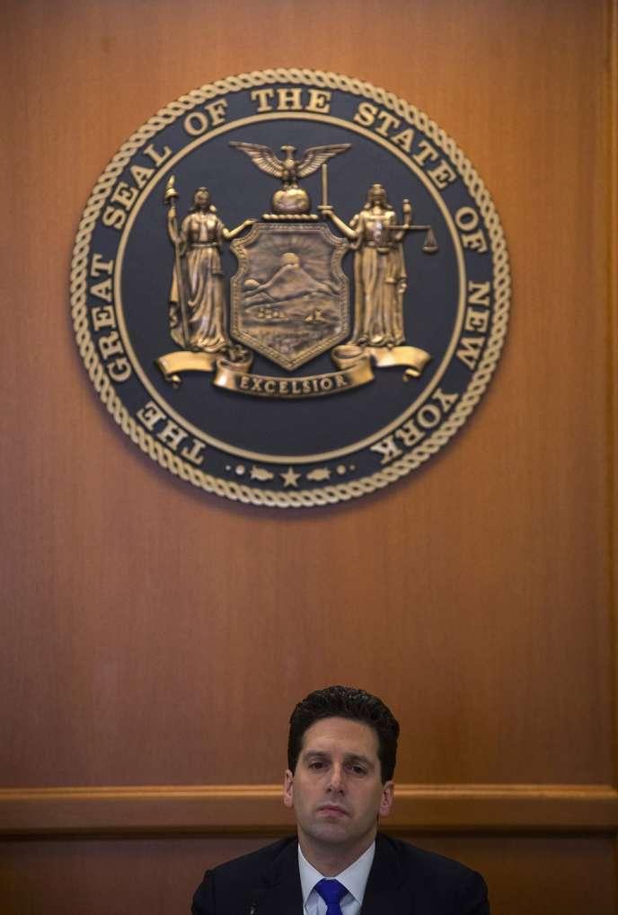 Le surintendant des services financiers de l'Etat de New York, Benjamin Lawsky, le 29 janvier.