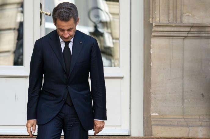 Nicolas Sarkozy, le 25 mars à Paris.
