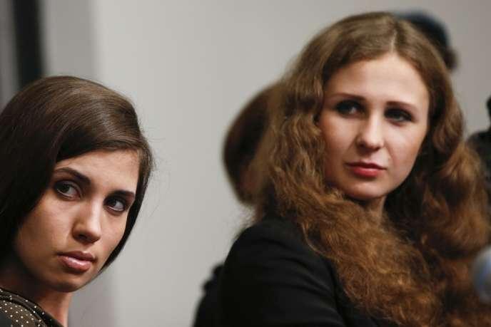 Nadejda Tolokonnikova et Maria Alekhina, le 5 février à New York.