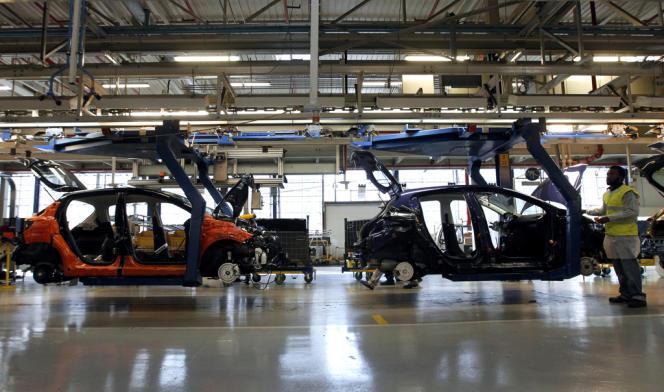 L'usine PSA de Poissy (Yvelines), en janvier 2012.