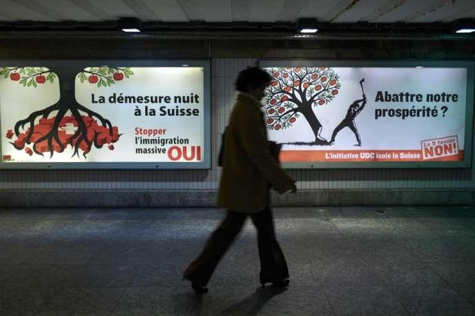 L'arbre de Guillaume Tell, symbole de la prospérité suisse, est récupéré par les partisans du