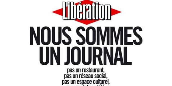 La « une » de l'édition du 8 février de « Libération ». La rédaction y explique longuement son opposition au projet des actionnaires.