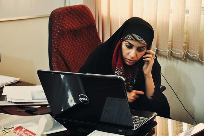 Samiyeh Balouchzehi qui dirige  la commune de Kalat se félicite d'avoir