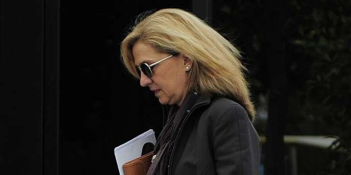 L'infante Cristina a été mise en examen en janvier pour blanchiment de capitaux et fraude fiscale.