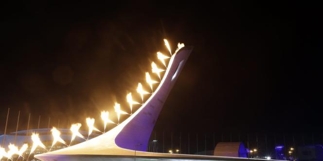L'allumage de la flamme olympique, le 7 février à Sotchi.