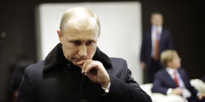 Vladimir Poutine peu avant son discours d'ouverture des Jeux de Sotchi, vendredi 7 février.
