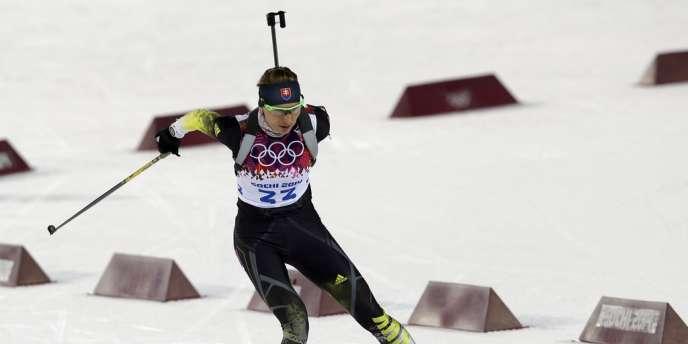 Anastasiya Kuzmina a remporté le sprint du biathlon dimanche à Sotchi.