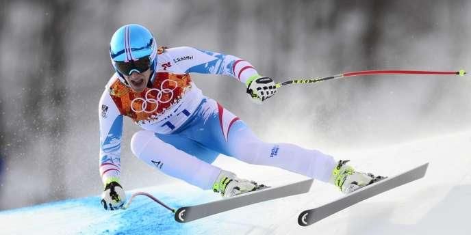 Matthias Mayer, dimanche, lors de la descente olympique.
