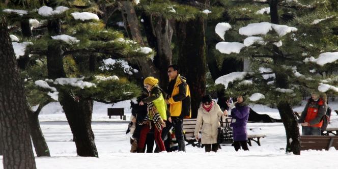 Dans un parc de Tokyo, le 9 février.