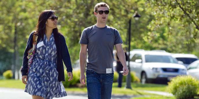 Mark Zuckerberg et sa femme, Priscilla Chan, en juillet 2011.