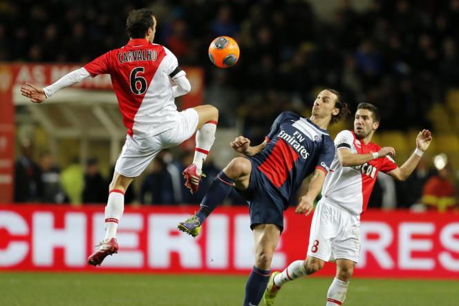Malgré une occasion en fin de seconde période, Zlatan Ibrahimovic n'a pas réussi à inscrire le but de la victoire contre Monaco (1-1) au stade Louis-II.