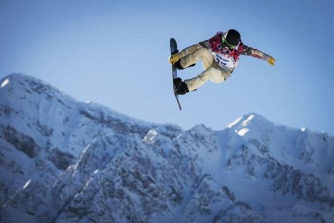 Shaun White, à l'entraînement sur le site olympique Rosa Khoutor, le 4 février.