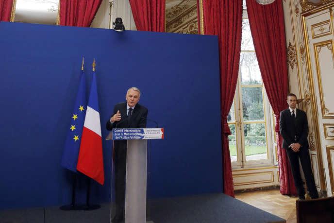 Jean-Marc Ayrault à Matignon le 18 décembre 2012, après le comité interministériel sur la modernisation de l'action publique.