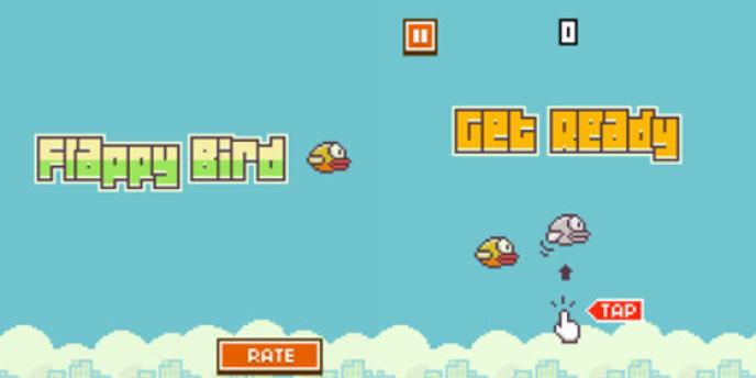 Démonstration de Flappy Bird.