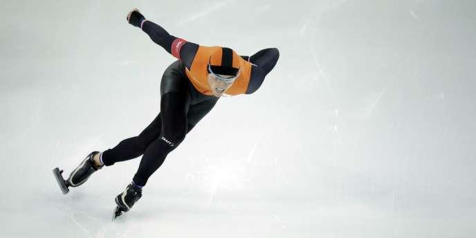 Le Néerlandais Jan Smeekens terminé deuxième de l'épreuve de vitesse, le 10 février à Sotchi.
