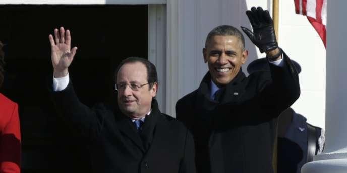 François Hollande et Barack Obama à Washington, mardi 11 février.
