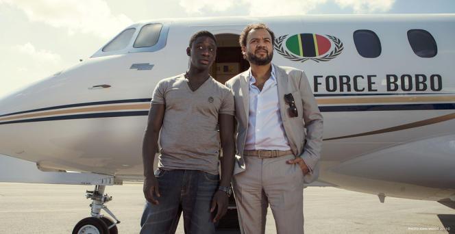 Ibrahim Koma et Fabrice Eboué dans le film français de Fabrice Eboué et Lionel Steketee,