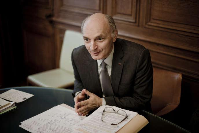 Didier Migaud, premier président de la Cour des comptes, dans son bureau, à Paris, le 7 février.
