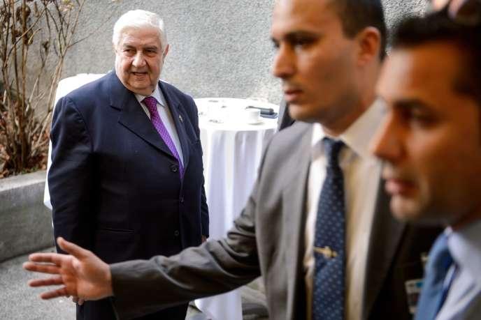 Walid Mouallem, le 24 janvier à Montreux, en Suisse, lors des négociations de