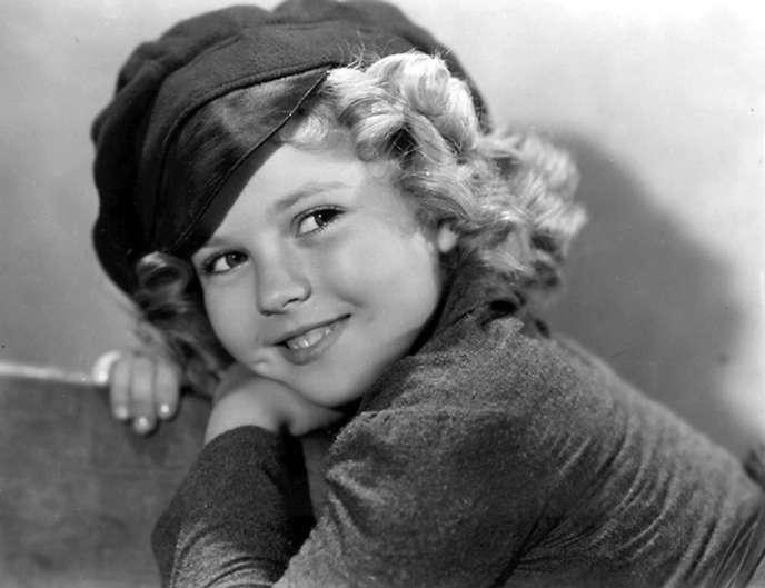 Shirley Temple, enfant star et icône de l'Amérique des années 1930 et 1940.