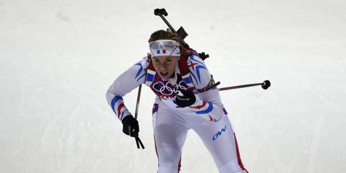 Anaïs Bescond, ici le 11 février lors de la finale de la poursuite de biathlon.
