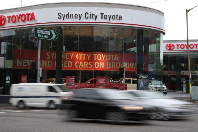 Une concession Toyota à Sydney. Le constructeur nippon renonce à construire des voitures en Australie.