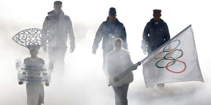 Les athlètes indiens avaient dû défiler sous le drapeau olympique lors de la cérémonie d'ouverture vendredi soir.