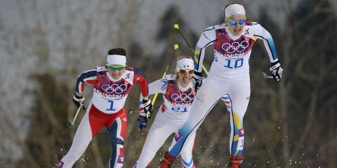 Aurore Jean (dossard 21) n'a pas réussi à se qualifier pour l'épreuve de sprint de ski de fond, mardi 10 février.