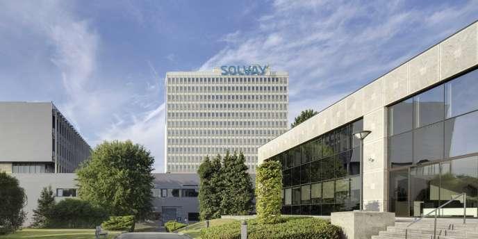 Le siège social de Solvay à Bruxelles, en Belgique.